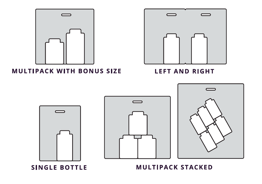 StretchPak Product Arrangement Configurations
