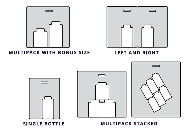 StretchPak Product Arrangement Configurations